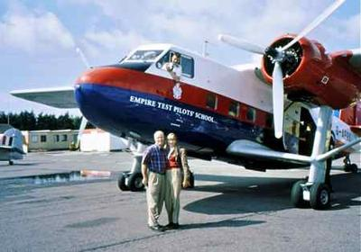 Mark and Judy  after our flight in the Twin Pin